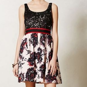 Peter Som Made in Kind Brushstroke Blossoms Dress